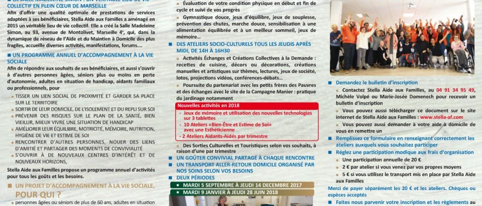 3ème  PROGRAMME ACCOMPAGNEMENT A LA VIE SOCIALE – SEPTEMBRE 2017 – JUIN 2018